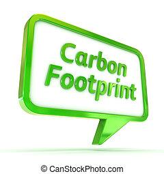 Speech Bubble Carbon Footprint
