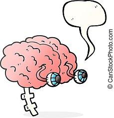 speech bubble cartoon brain - freehand drawn speech bubble...
