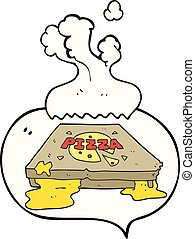speech bubble cartoon pizza