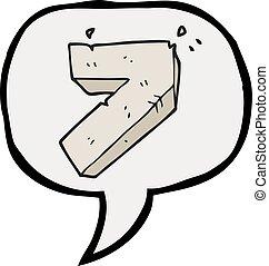 speech bubble cartoon stone number seven