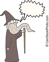 speech bubble cartoon wizard