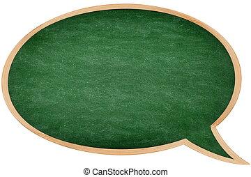 Speech bubble chalkboard / blackboard
