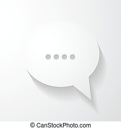 Speech bubble chat icon