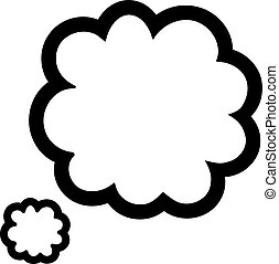Speech bubble. Cloud icon.
