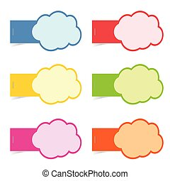 speech bubble cloud illustration