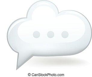 Speech Bubble Cloud