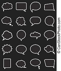 Speech bubble collection.