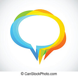 Speech bubble - colorful abstract background, vector