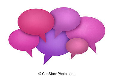 Speech Bubble Communication Concept - Concept image on...