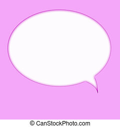 Speech bubble - Computer designed speech bubble on pink...