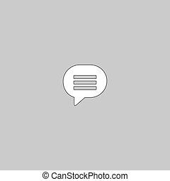 Speech bubble computer symbol