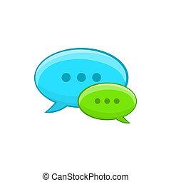 Speech bubble conversation icon, cartoon style