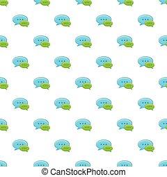 Speech bubble conversation pattern, cartoon style
