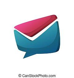 speech bubble envelope message