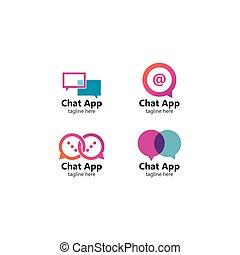 Speech bubble for App. Vector logo design. Business concept