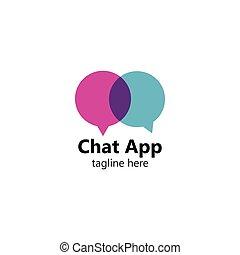 Speech bubble for Chat App. Vector logo design. Business concept
