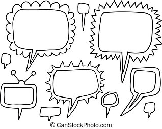Speech Bubble Funky Doodle Vector