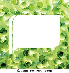 Speech bubble green ecology vector background