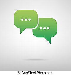 Speech bubble green icon