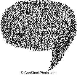 Speech bubble. Hand-drawn. Vector illustration.