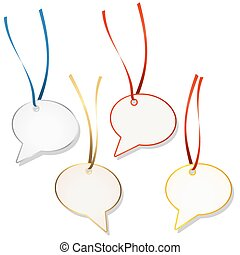 speech bubble hangtags