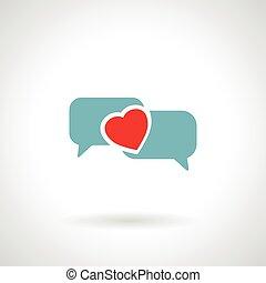 speech bubble heart