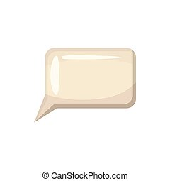 Speech bubble icon, cartoon style