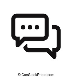 Speech bubble icon. Chat, conversation, communication, message symbol isolated on white background