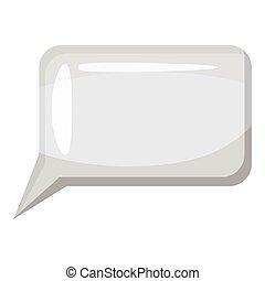 Speech bubble icon, gray monochrome style