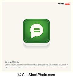 Speech bubble icon Green Web Button