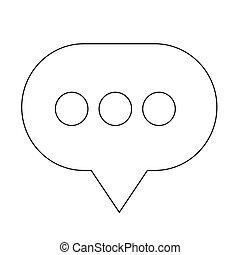 Speech bubble icon illustration design