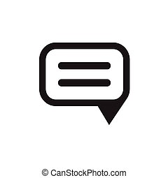Speech bubble icon on white background