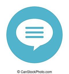 speech bubble icon, on white background