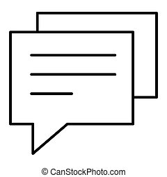 Speech bubble icon or logo in modern line style. High quality black outline pictogram for web site design and mobile apps. Vector illustration on a white background. Eps 10