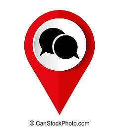 Speech bubble icon - the red vector illustration