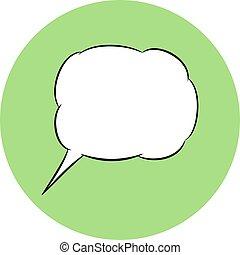 Speech bubble icon. Vector chat symbol.