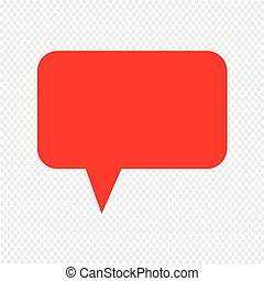 speech bubble icon Vector Illustration