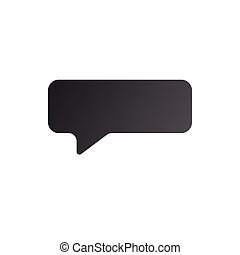 Speech bubble icon, vector illustration isolated on white background.