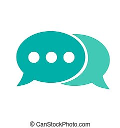 Speech bubble icon. Vector illustration