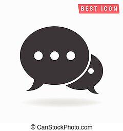 Speech bubble icon vector, Speech icon eps10