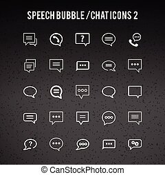 Speech Bubble Icons