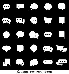 Speech Bubble icons on black background
