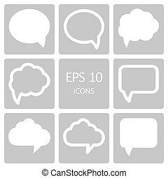 Speech bubble icons. Vector illustration.