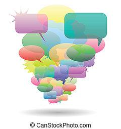 Speech bubble - Illustration of abstract speech bubble on a ...