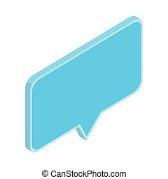 speech bubble in 3d on white background