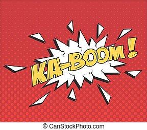 Speech bubble KA-BOOM. Vector comic book element.