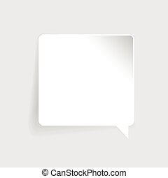 Speech bubble label vector