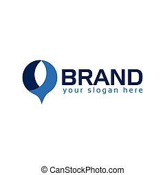 Speech bubble logo vectore. Flat logo design.