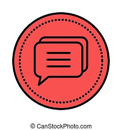 speech bubble message icon vector illustration