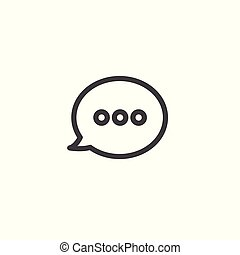 Speech Bubble Message / Messaging Icon Showing Words Being...